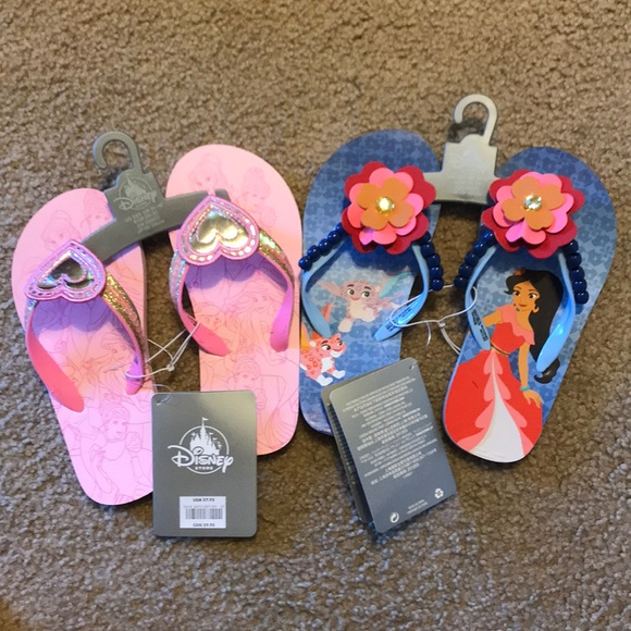 5cefadd73 Elena of Avalor and Disney princess flip flops